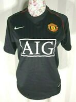 Manchester United Away Shirt - Boys - AIG - 2007 2008 - Size S - Good Condition