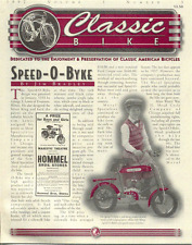 CLASSIC BIKE NEWS Speed-O-Byke antique bicycle newsletter Volume 3 Number 3