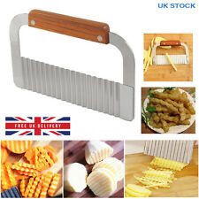 Stainless Steel Potato Chip Wavy Cutter Dough Vegetable Crinkle Cut Blade Knife