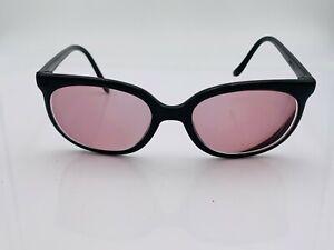 Vintage Bolle Black Nylon Cat-Eye Sunglasses France FRAMES ONLY