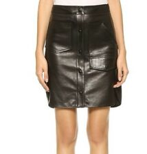 New with defect $995 Alexander Wang leather matrix skirt 3090  size 6