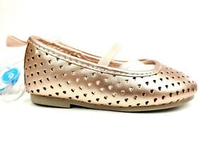 Carter's Toddler Girls Mary Jane Rose Gold Shoes Size 6