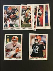 1995 Topps Panthers Inaugural Logo Cleveland Browns Team Set 13 Cards
