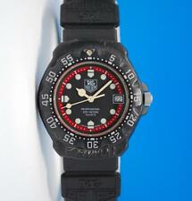 Men's Tag Heuer Formula 1 F1 Watch on Strap - Black / Red