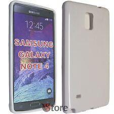 Funda Cover para SAMSUNG Galaxy Note 4 N910F N910 BLANCO GEL TPU silicone