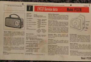 Ekco Model PT378 6 Transistor 2 band AM FM Transportable Radio receiver manual