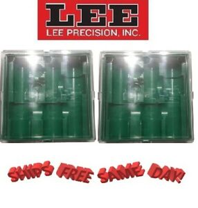 Lee Precision TWO Green THREE Die Plastic Storage Box with Lid! NEW! 2 PACK!