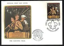 "Liberia 1979 Norman Rockwell Scouting ""THE SCOUTING TRAIL"" SC # 853-857 FDC"