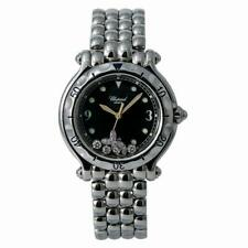 Chopard Happy Fish 27/8925 Women's Quartz Watch 4 Floating Diamonds SS 33mm