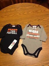2 Piece Chicago Bears NFL Long  Sleeve T-Shirts size 0-3 months