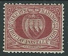 1894-99 SAN MARINO STEMMA 10 CENT MH * - M18-3