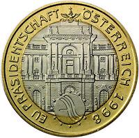 Österreich 50 Schilling 1998 Handgehoben EU Ratspräsidentschaft im Folder