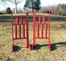 Horse Jumps 5 Column Wooden Wing Standards 6ft/Pair - Color Choice #225