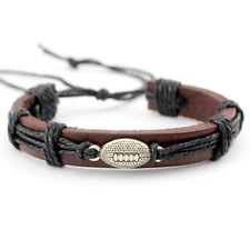 football hand made Leather bracelet The first layer Genuine Leather Bracelets