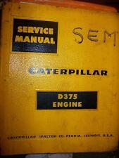 Caterpillar D375 G375 Engine 1958 : Service Manual