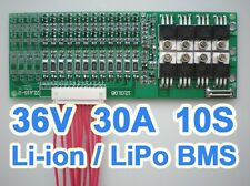 36V 37V 42V 10S 30A Lithium ion Li-ion Li-Po LiPo Polymer Battery BMS PCB System