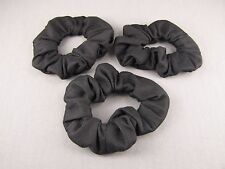 solid Black set 3 jersey knit ponytail holder hair tie elastic scrunchies