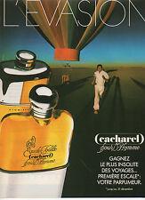 Publicité Advertising  1984  Parfum CACHAREL pour l'Homme Eau de Toilette