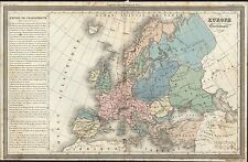 1835 Dufour Antique Map of Europe under the Emperor Charlemagne