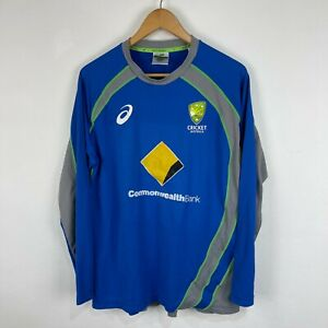 Cricket Australia Womens Training Shirt 16 Player Issue Long Sleeve Round Neck