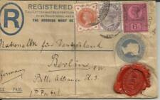 Great Briatain postal registered envelope uprated SG#197,#174,#208 1896 to