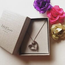 Zales Diamond Accent Sterling Silver Heart Pendant Necklace