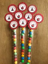 LadyBug Personalised Lolly Tubes ~ Birthday, Baby Shower, Naming, Christening