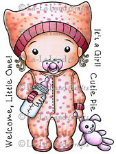BABY MARCI-La-La Land Crafts Cling Mount Rubber Stamp-Stamping Craft-Girl Card