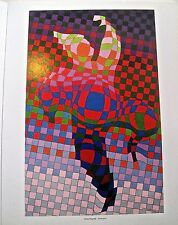 Victor Vasarely Harlequin Poster  Optical Art Patterns Unsigned 14X11