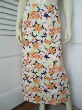 Talbots Petites Skirt 8 Long Straight Cotton Blend Ankle Length Unlined
