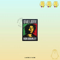 BOB Marley One love Rasta Flag Embroidered Iron On Sew On Patch Badge