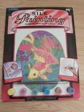 Brand New Silk Painting Kit Inc Fish Picture And Paints