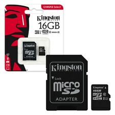 16GB Kingston Canvas Select Micro SD Memory Card 80MB/s UHS-1 Class 10 +ADAPTER