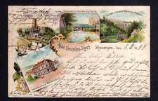 112945 AK Kreiensen 1899 Litho Hotel Deutsches Haus Alte Burg Ruine Eisenbahnbrü