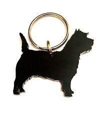 Cairn Terrier Porte-Clé Lanière Breloque Sac Cadeau en Noir