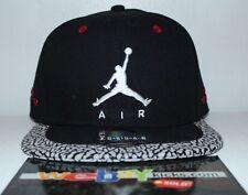 Air Jordan Retro 3 III 23 Black Cement Gray Red Snapback Mens Size Cap Hat New