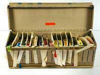 Vintage 16 roll medical prescription warning stickers w/ dispenser oddity COOL