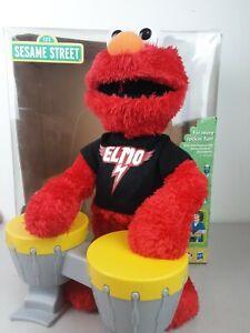 Vintage Sesame Street Let's Rock Elmo Works Includes Batteries And Box