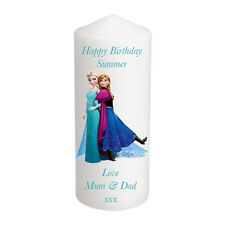 Personalised Frozen Elsa Anna Candle Christmas Birthday Stocking Gift Keepsake L