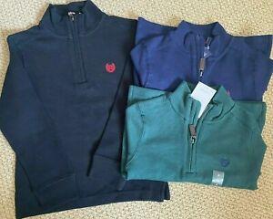 Chaps Ralph Lauren 1/4 Zip Sweater 4 4T 5 5T Cotton $36 NWT Options FREE