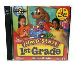 Jump Start First Grade 2 CD-ROM Set Windows, Mac