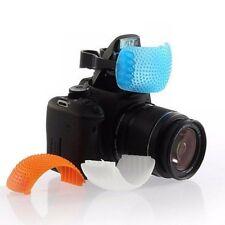 3 Color Diffuser Filter Cover + Bracket for Canon Nikon DSLR Camera Pop-Up Flash