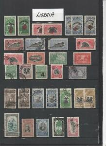 LIBERIA COLLECTION ON 8  PAGES