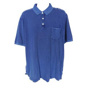 Tommy Bahama Sunny Isles Polo Throne Blue Polo Shirt Mens XL Short Sleeve Cotton