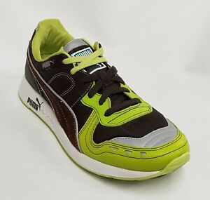Puma Men RS100 LE Stitching Java Brown / Lime Punch 343801-04
