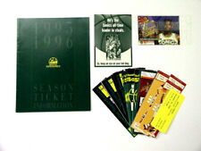Seattle Super Sonics 1994 1995 Ticket Information Guide, Stubs Nate McMillan Lot