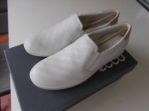 Ecco Slipper weiß Größe 41 Leisure white / powder neu