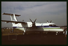 Orig 35mm airline slide Hamburg Airlines Dash 8 C-FCTD [212-1]