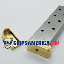 1 X Colt 1911 Magazine plate 45ACP 8 Round Metal Base Pad Gold plated
