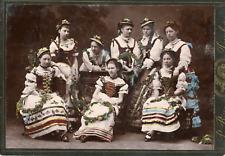 Femmes polonaises en costume traditionnel , ca.1905, Format Carte Cabinet, Vinta